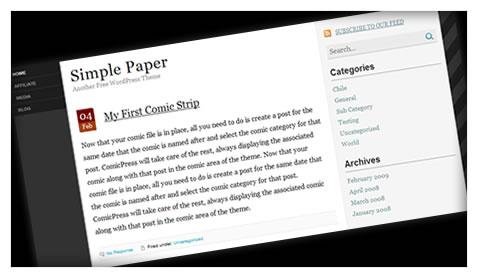 simple-paper-wordpress-theme