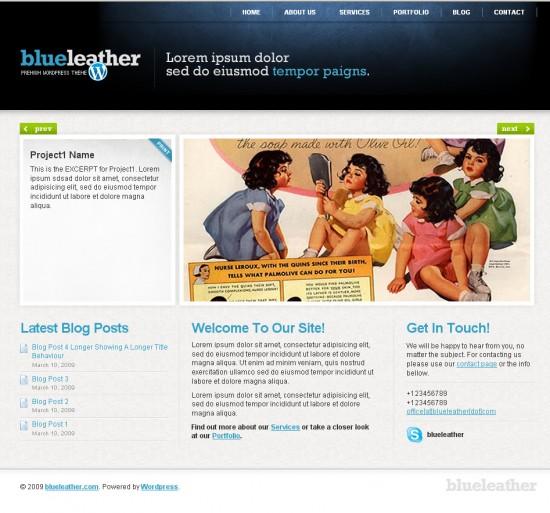 blueleather-wordpress-theme