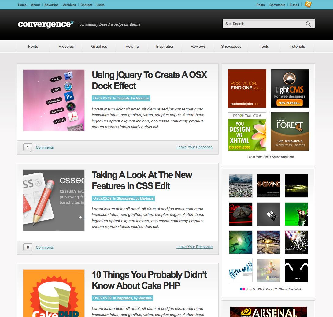 Convergence WordPress Theme | WPThemes.com - WordPress Themes