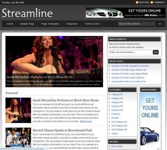 streamline-wordpress-theme