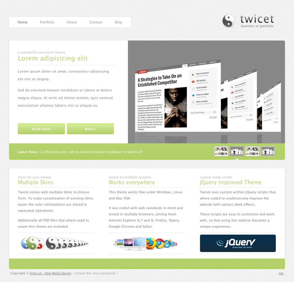 Twicet Business WordPress Theme  WPThemes.com  WordPress Themes